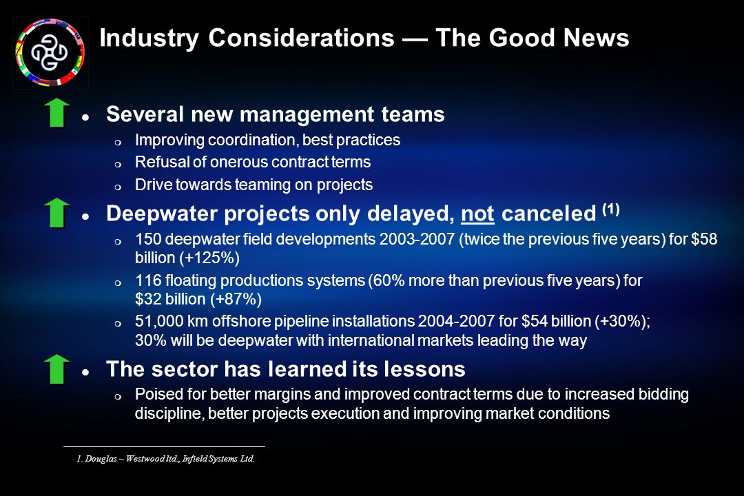 Industry Considerations — The Good News