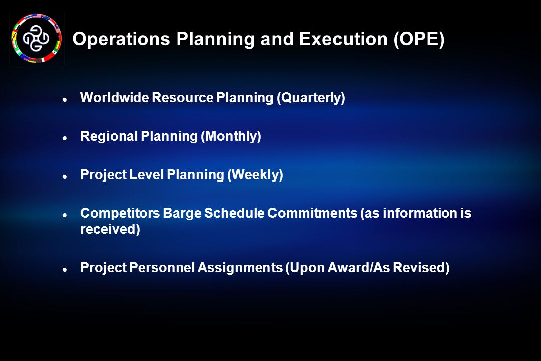 Operations Planning and Execution (OPE)