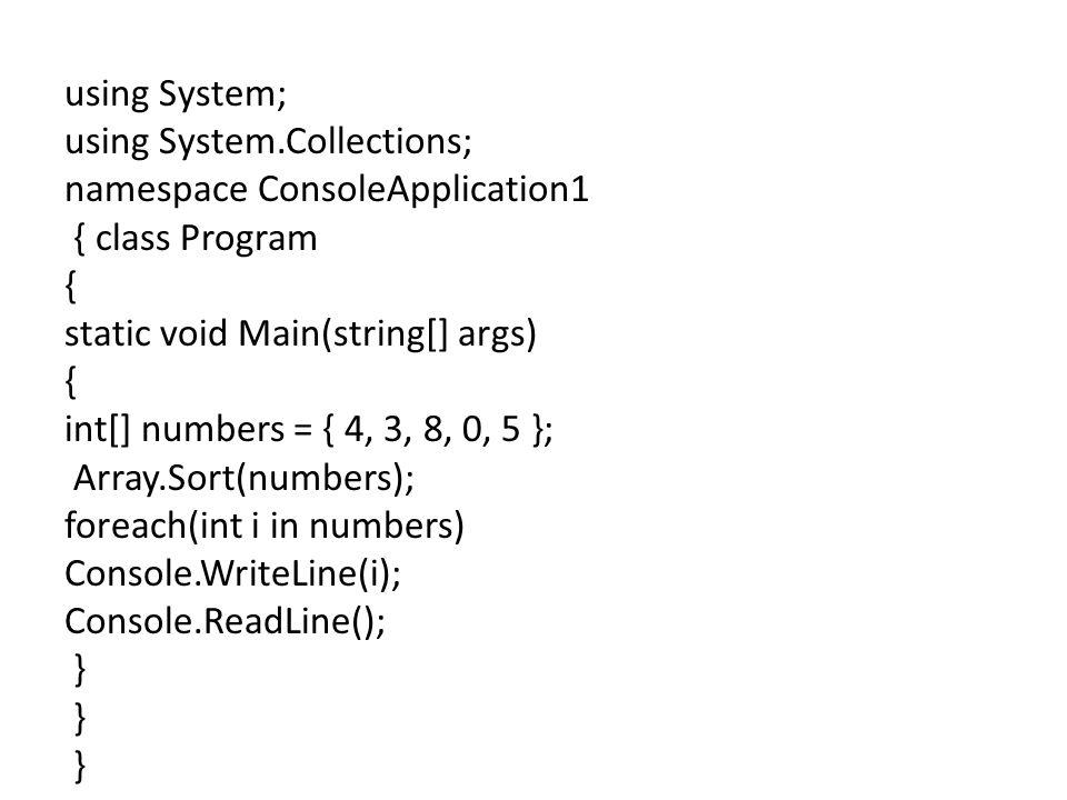 using System; using System