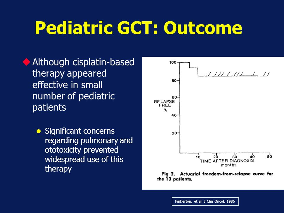 Pediatric GCT: Outcome
