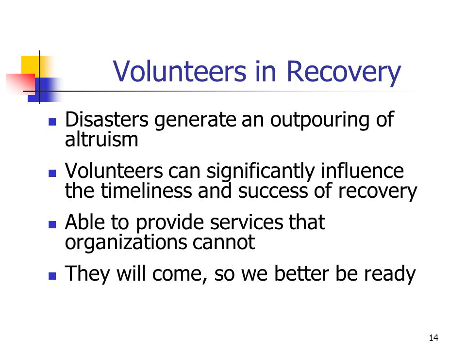 Volunteers in Recovery