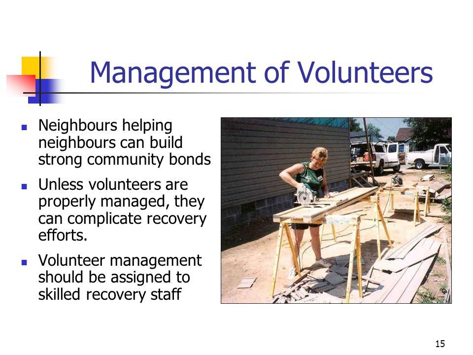 Management of Volunteers