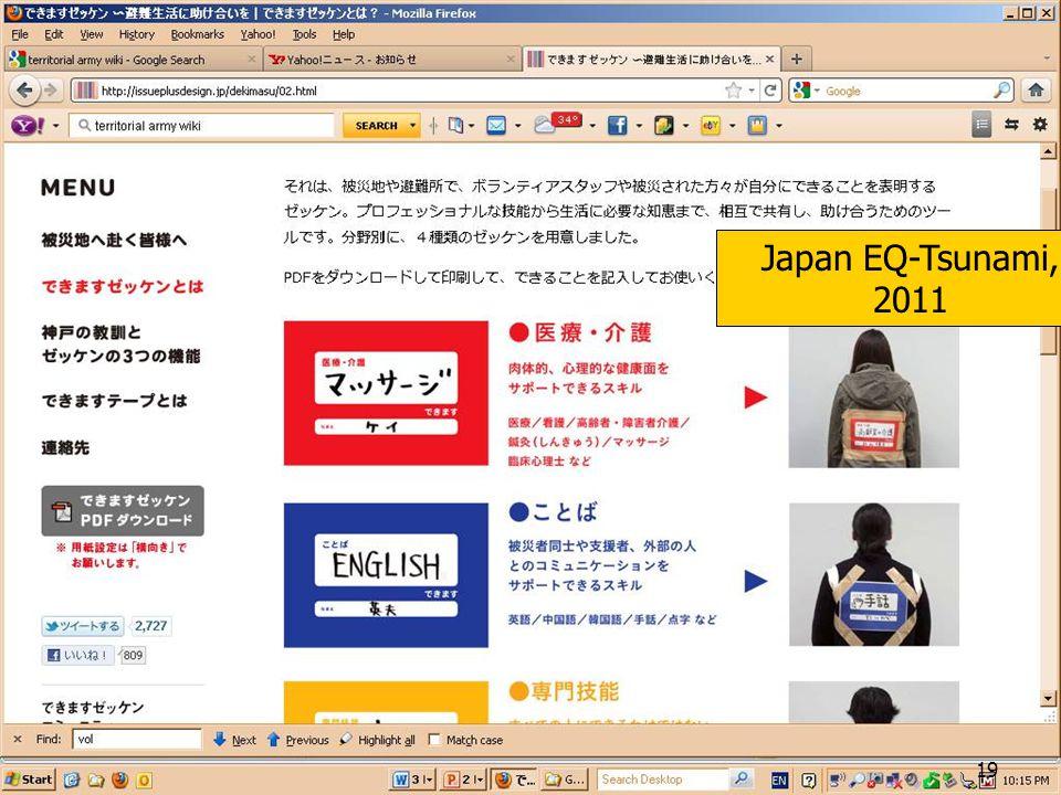 Japan EQ-Tsunami, 2011