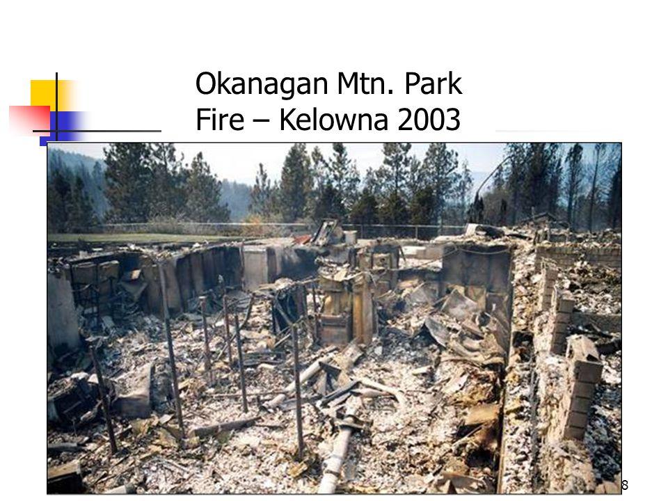Okanagan Mtn. Park Fire – Kelowna 2003