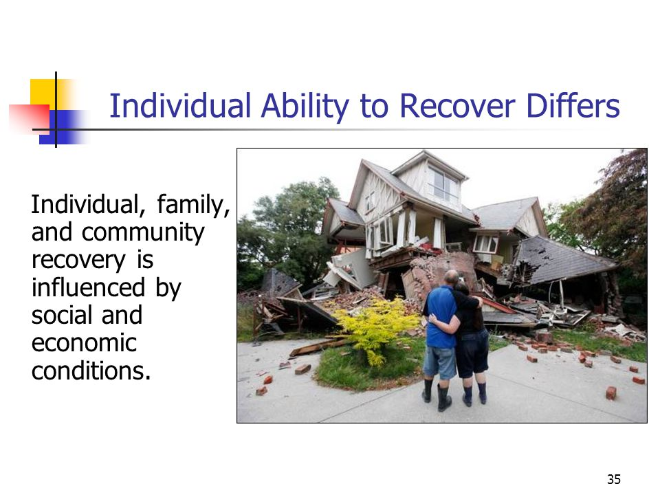 Individual Ability to Recover Differs