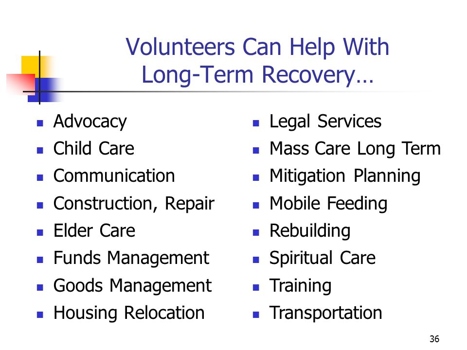 Volunteers Can Help With Long-Term Recovery…