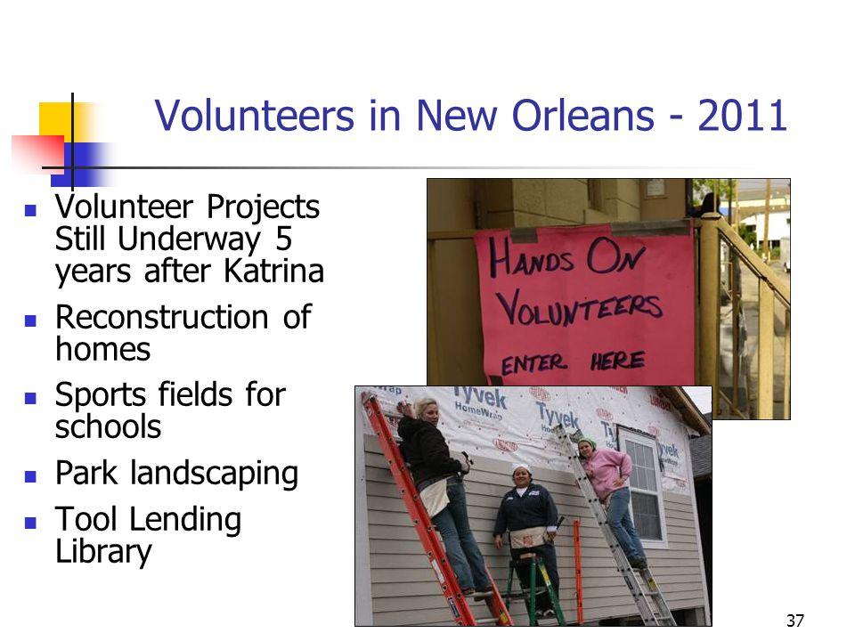 Volunteers in New Orleans - 2011