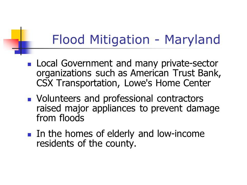 Flood Mitigation - Maryland
