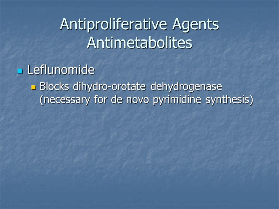 Antiproliferative Agents Antimetabolites