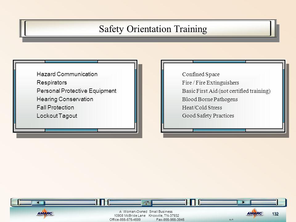 Safety Orientation Training