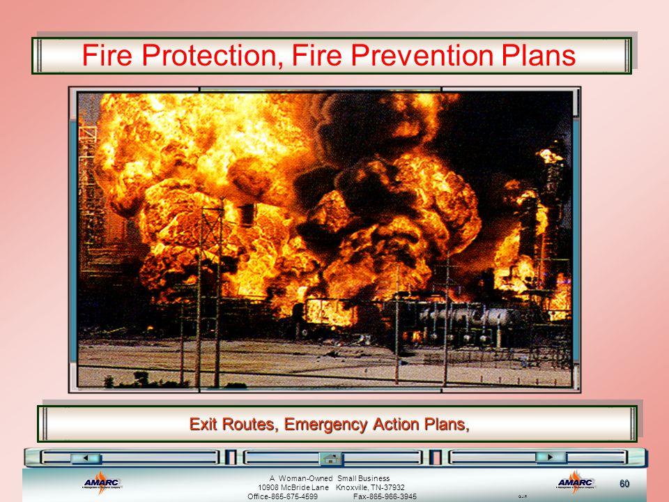 Exit Routes, Emergency Action Plans,