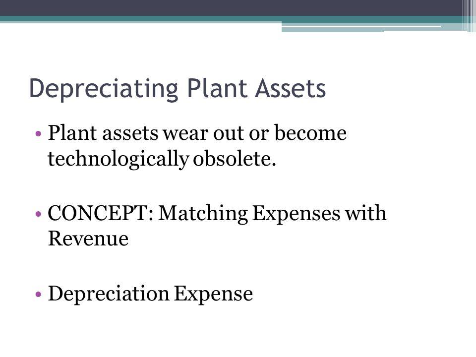 Depreciating Plant Assets