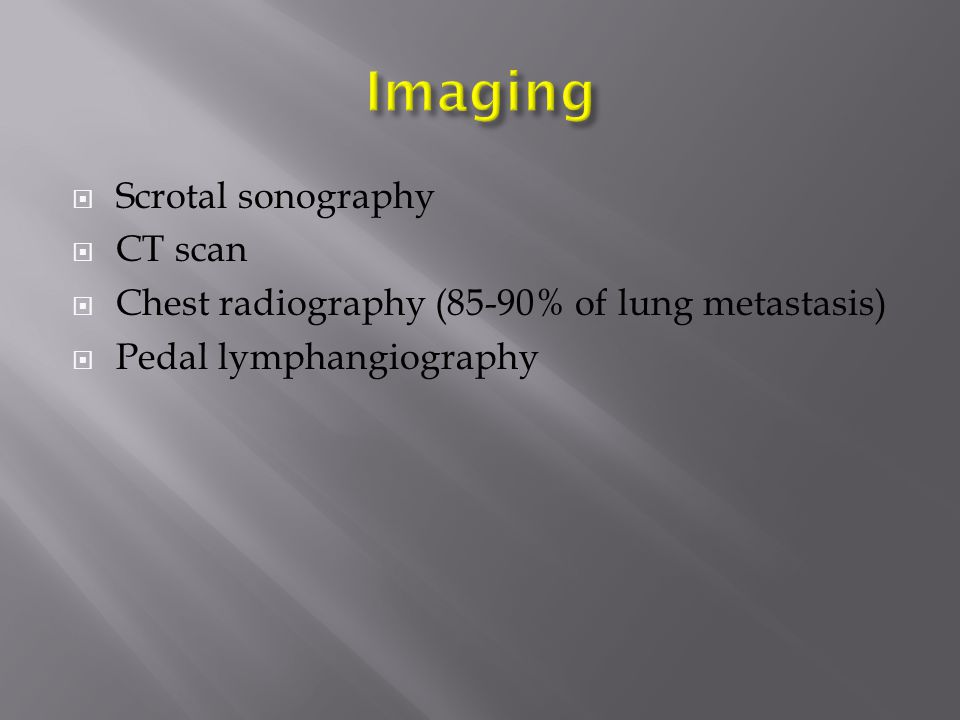 Imaging Scrotal sonography CT scan