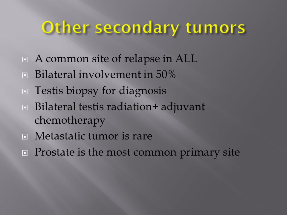 Other secondary tumors