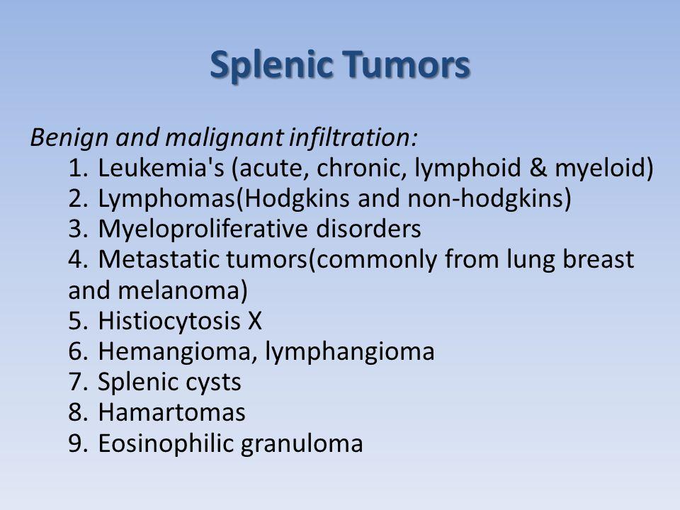 Splenic Tumors