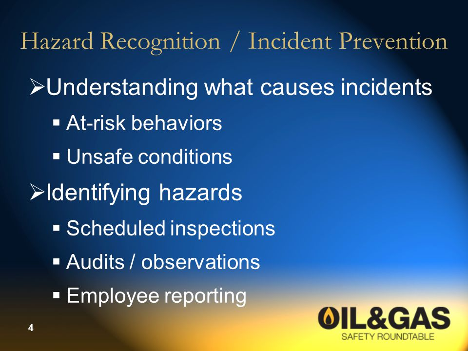 Hazard Recognition / Incident Prevention