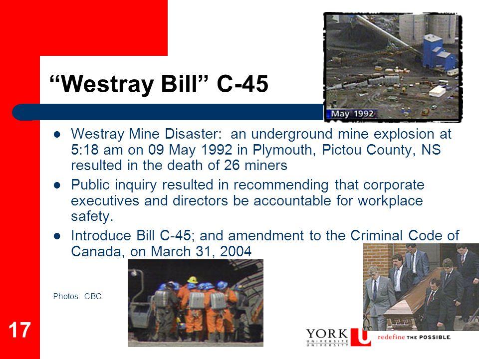 Westray Bill C-45