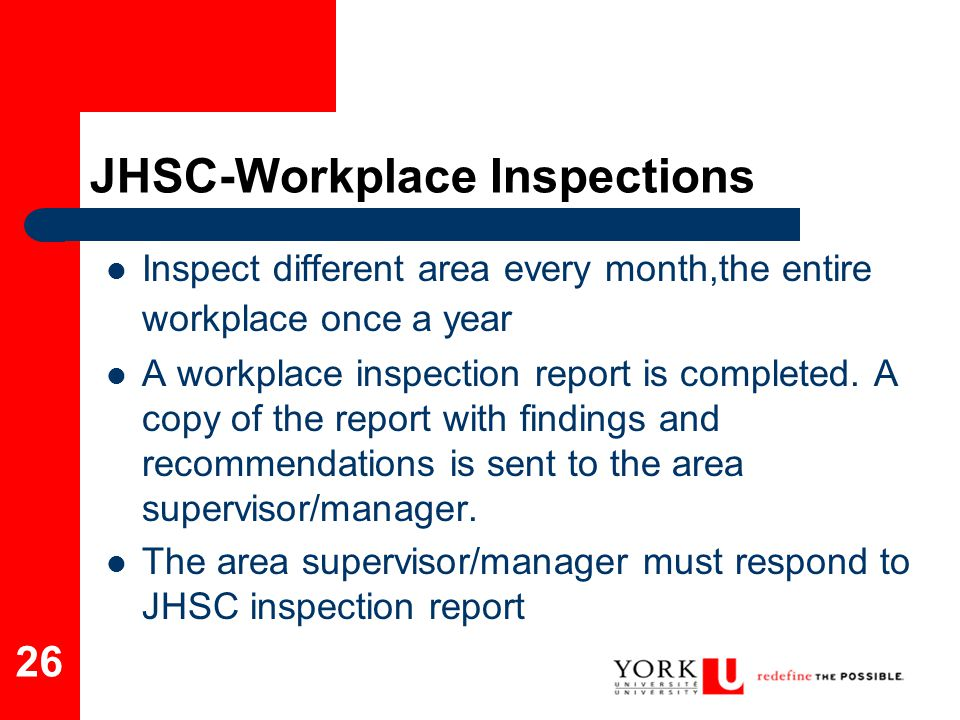 JHSC-Workplace Inspections
