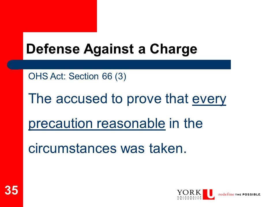 Defense Against a Charge