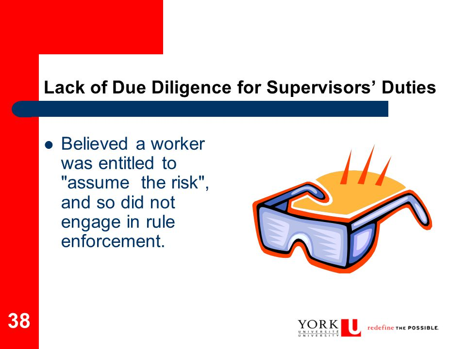 Lack of Due Diligence for Supervisors' Duties