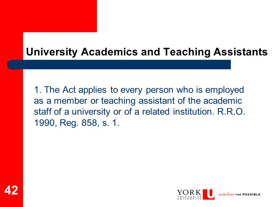 University Academics and Teaching Assistants
