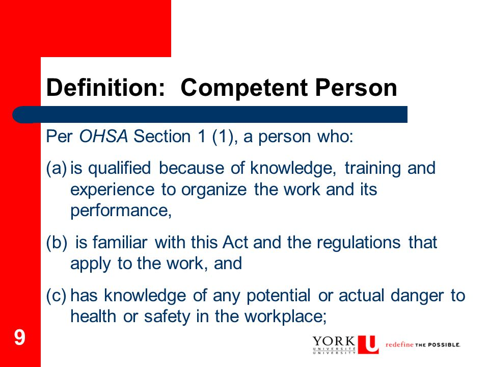 Definition: Competent Person