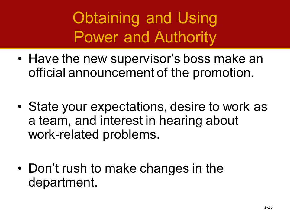 Obtaining and Using Power and Authority