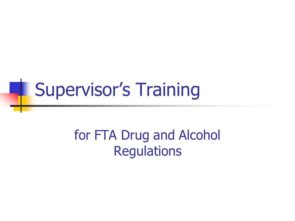 Supervisor's Training