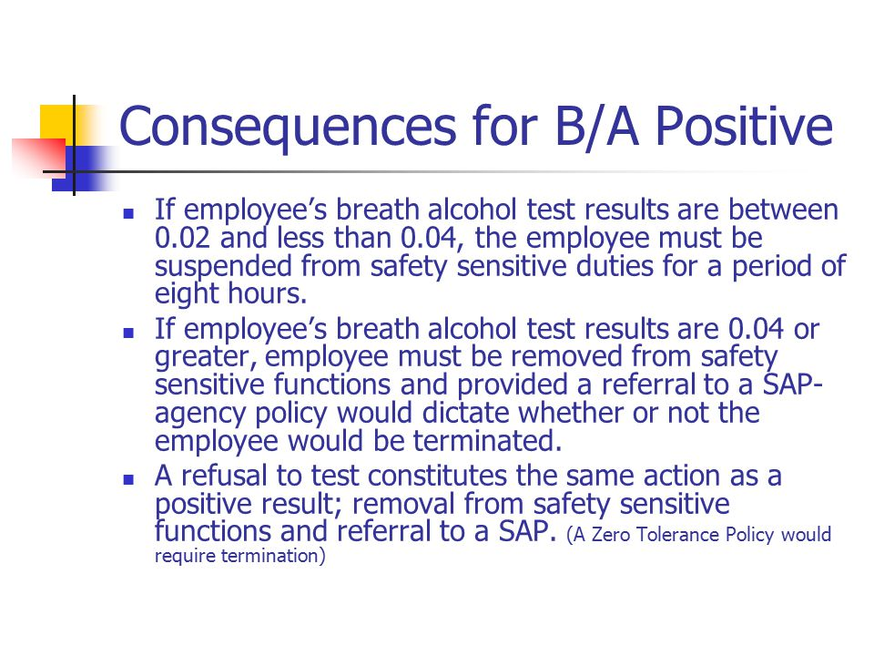 Consequences for B/A Positive