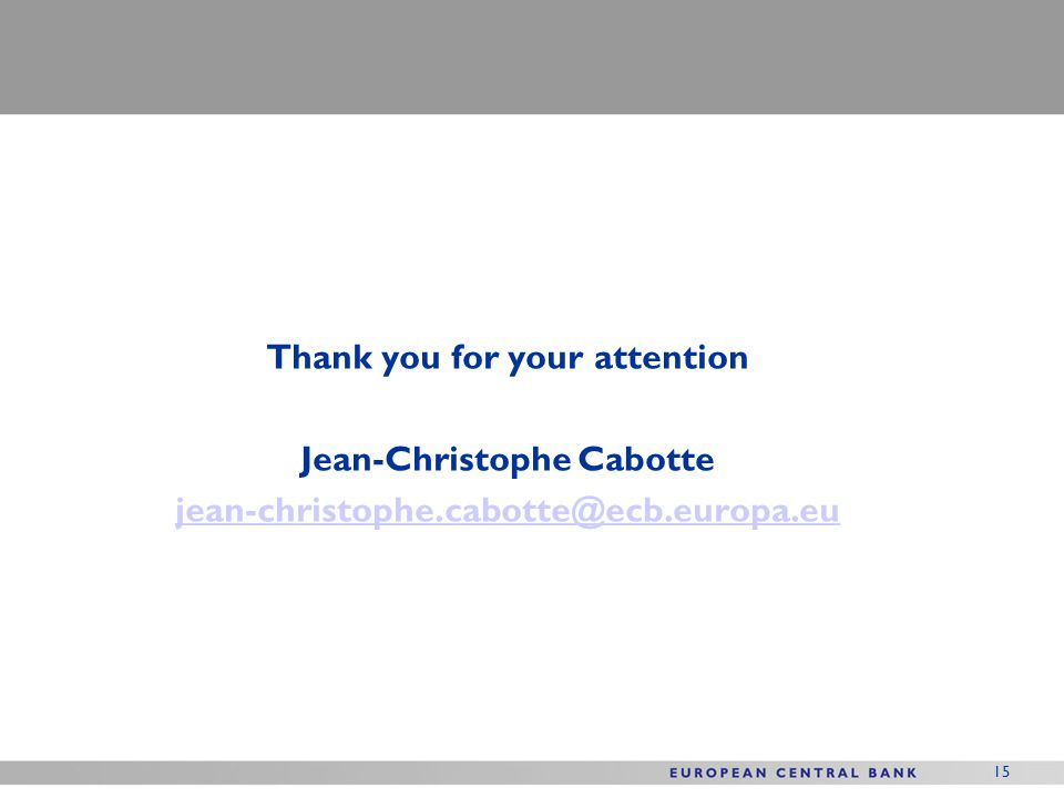 Thank you for your attention Jean-Christophe Cabotte jean-christophe