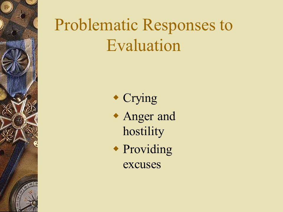 Problematic Responses to Evaluation