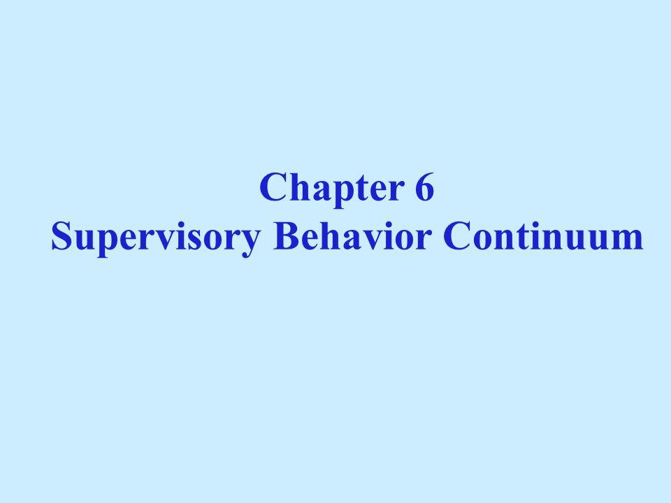 Categories of Supervisory Behaviors