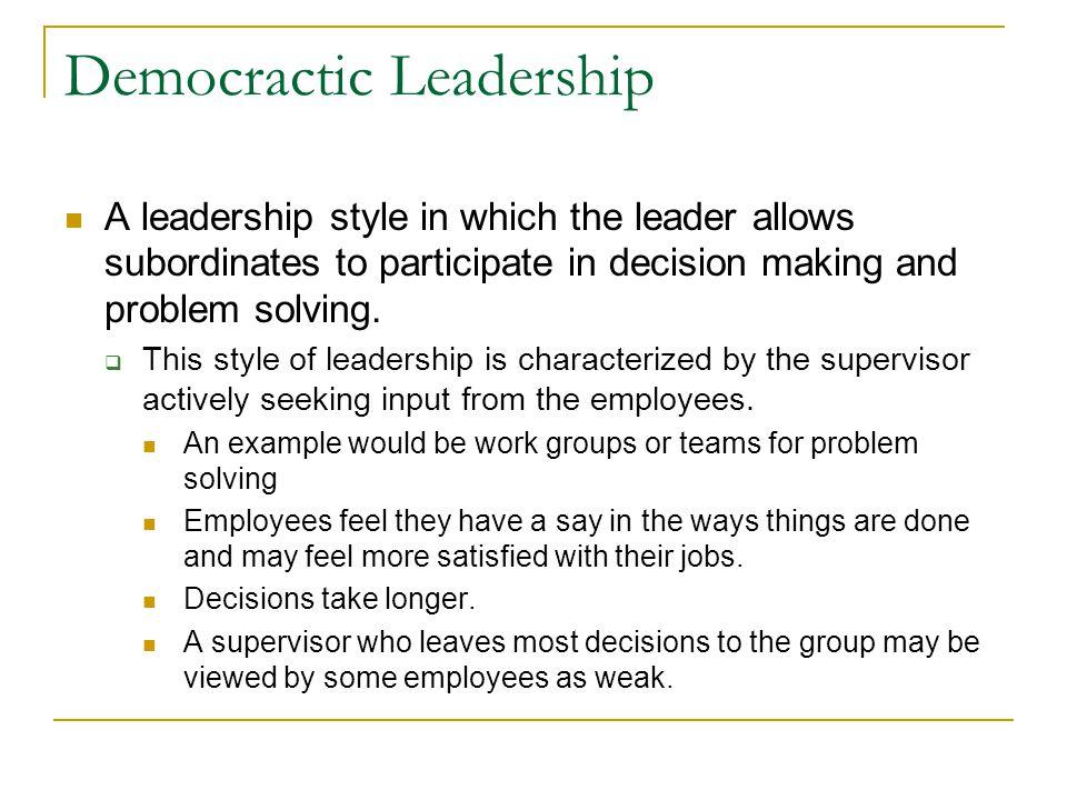 Democractic Leadership