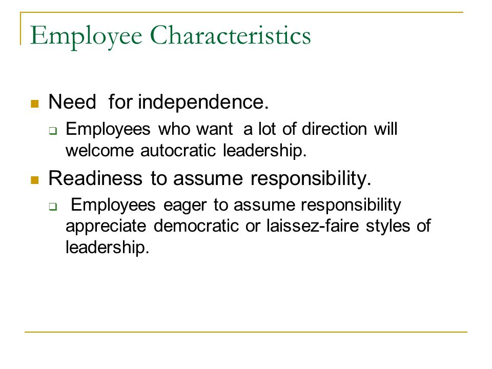 Employee Characteristics