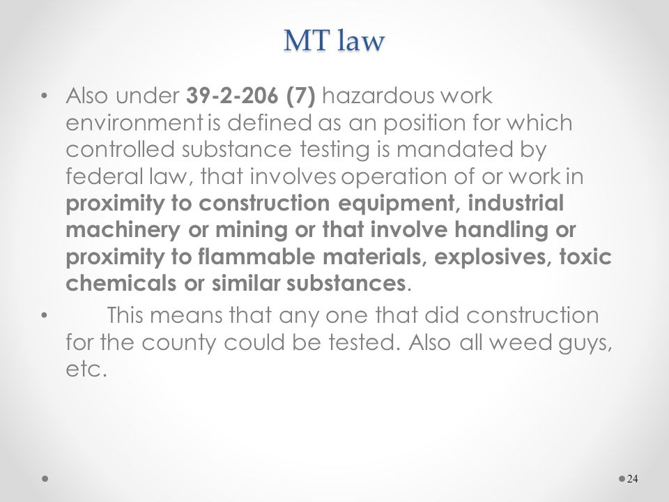 MT law