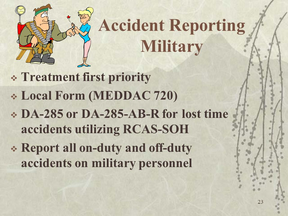 Accident Reporting Military