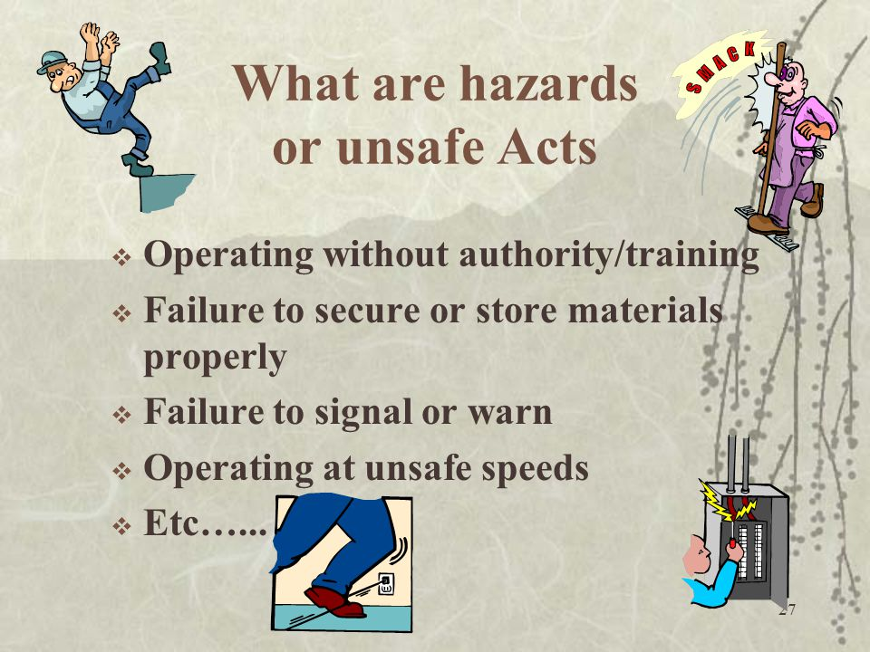 What are hazards or unsafe Acts