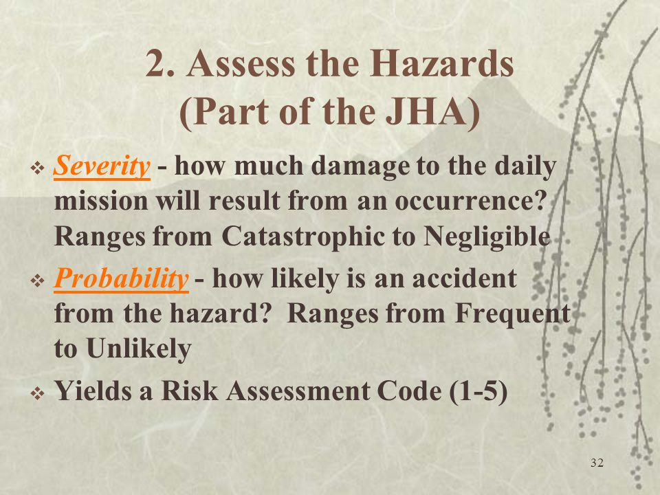 2. Assess the Hazards (Part of the JHA)