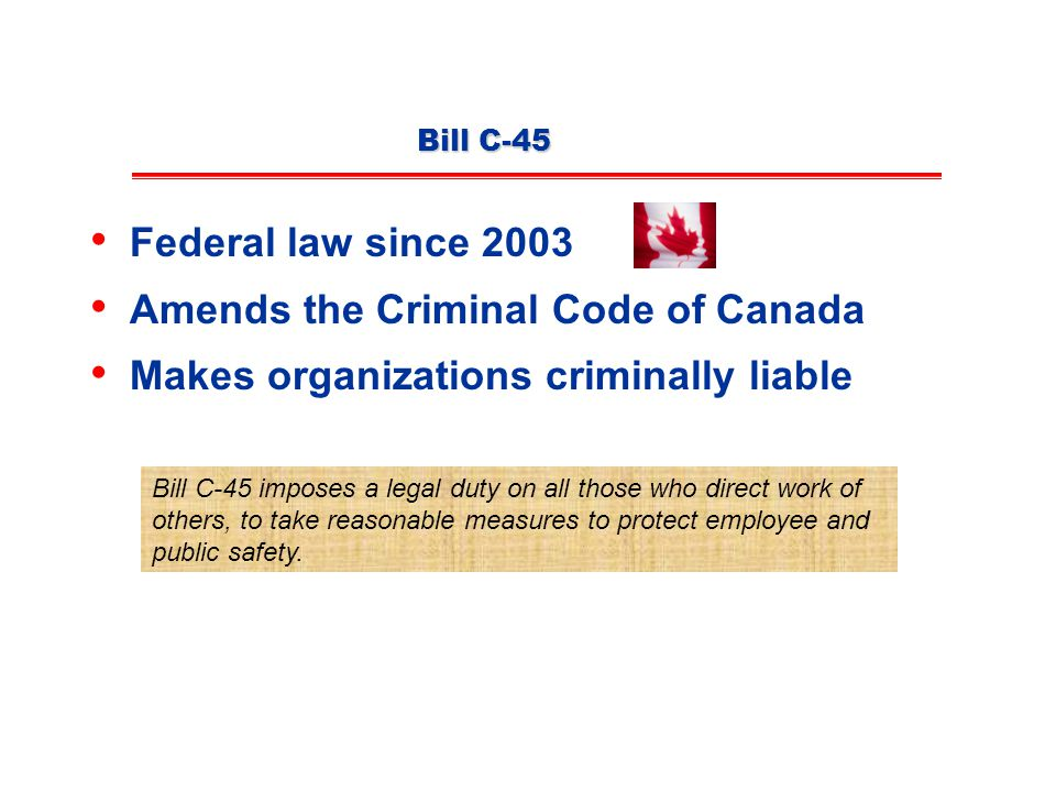 Amends the Criminal Code of Canada