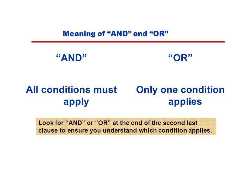 Meaning of AND and OR