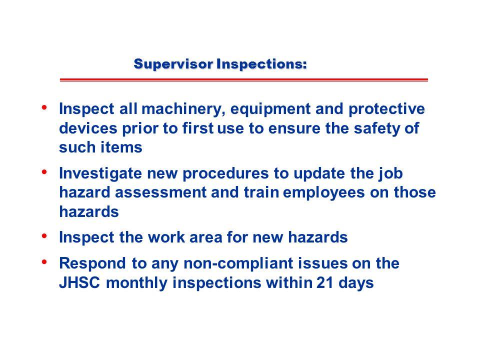 Supervisor Inspections:
