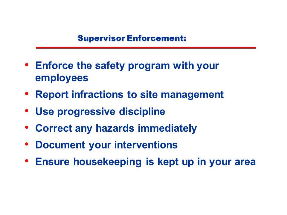 Supervisor Enforcement: