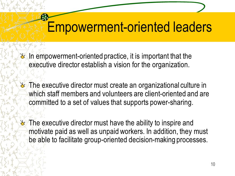 Empowerment-oriented leaders