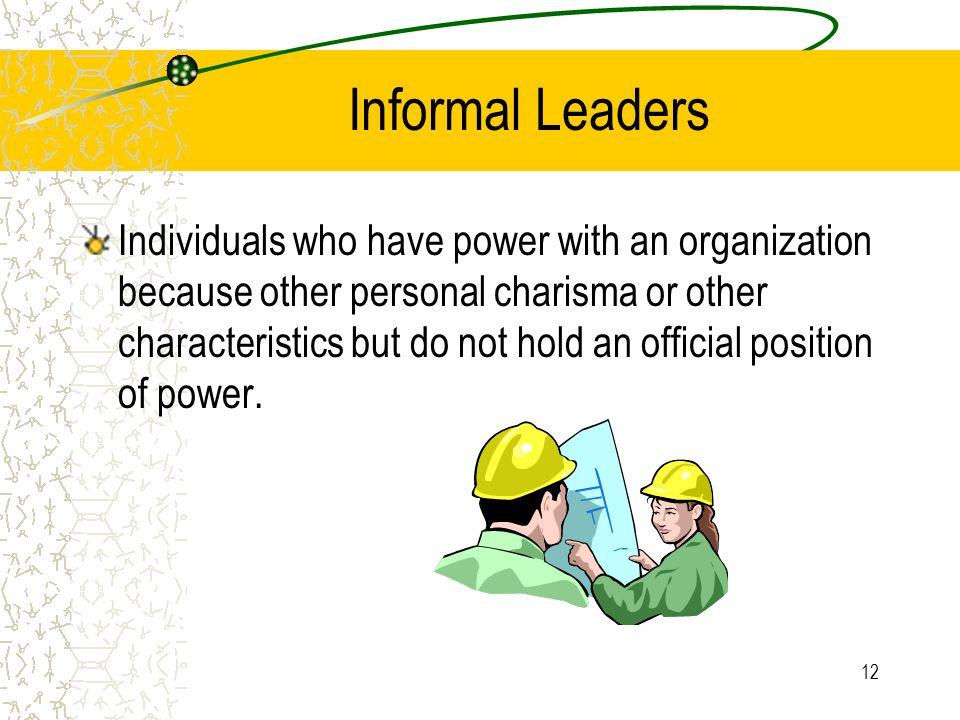 Informal Leaders