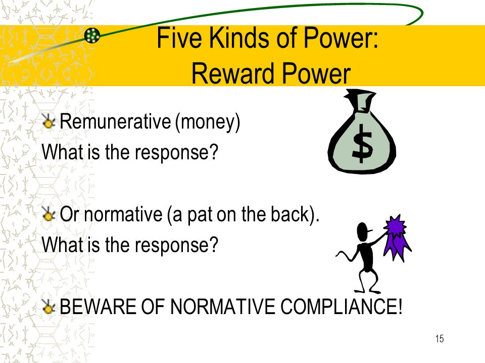 Five Kinds of Power: Reward Power