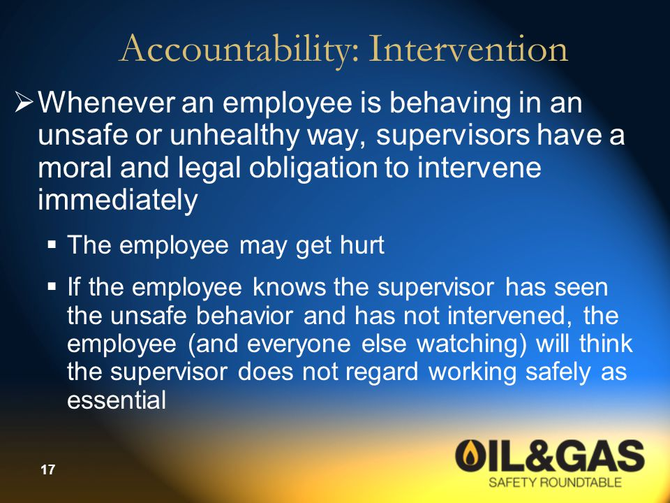 Accountability: Intervention