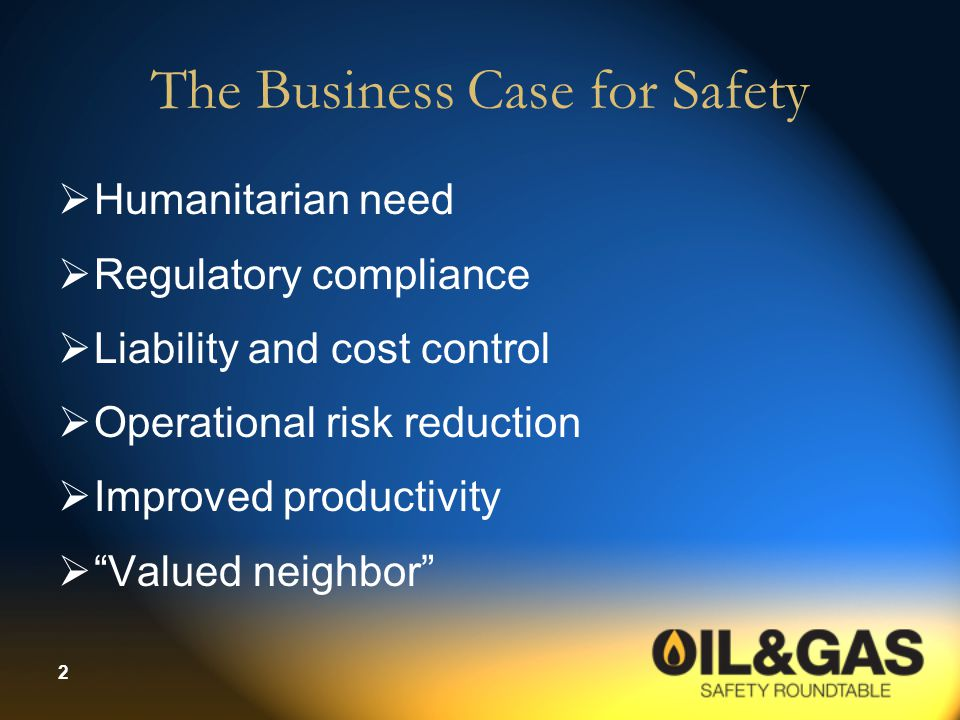 The Business Case for Safety