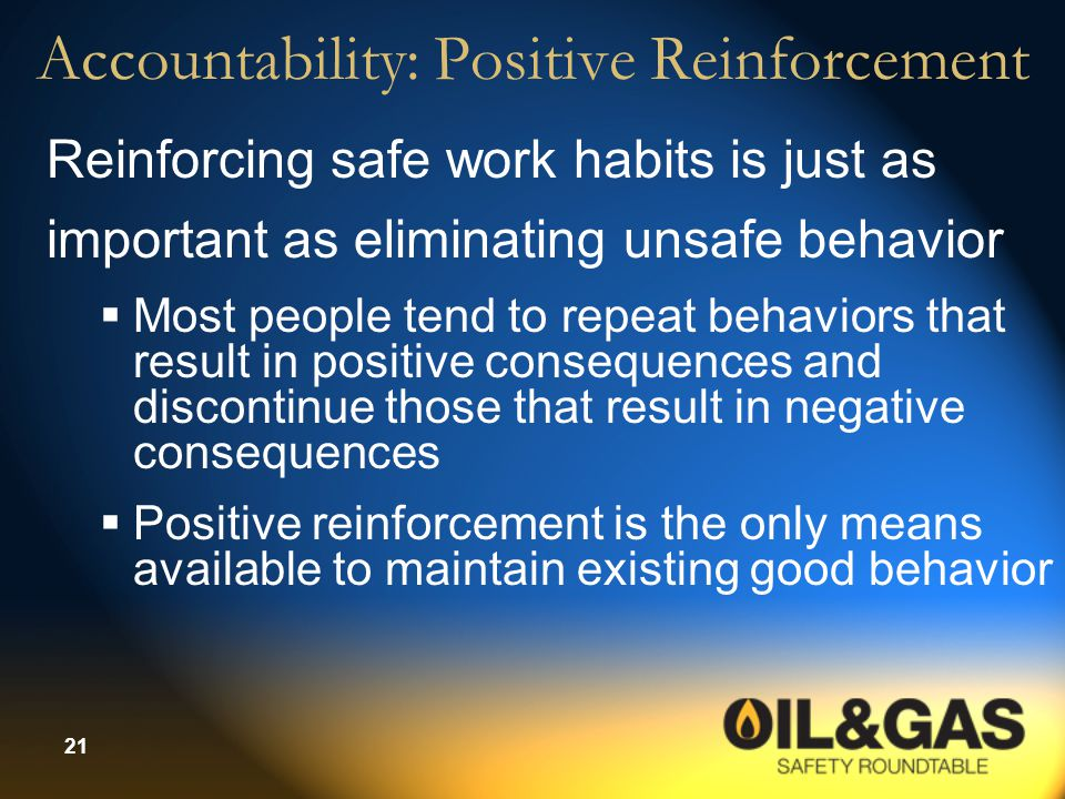 Accountability: Positive Reinforcement