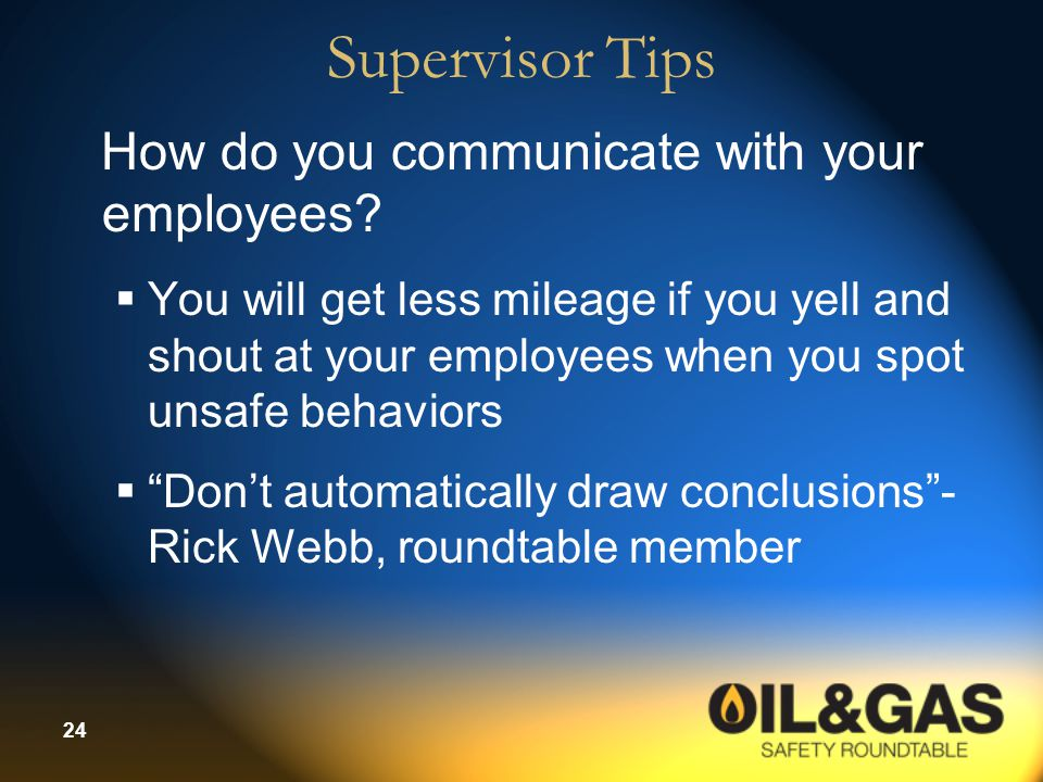Supervisor Tips How do you communicate with your employees