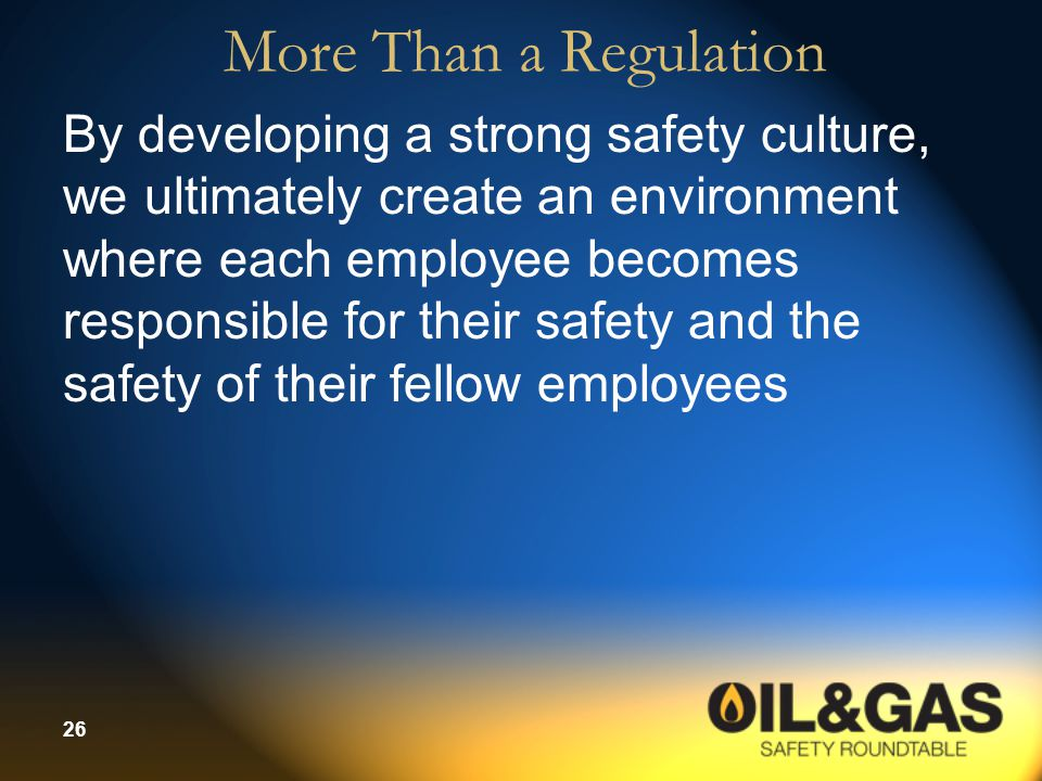 More Than a Regulation
